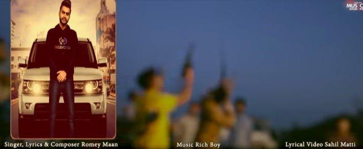 ब्लैक हूडी Black Hoodie Lyrics In Hindi - Romey Maan