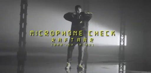 Microphone Check Lyrics In Hindi (2020) - Raftaar